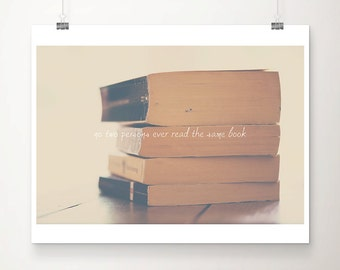 book photograph, literature quote print, inspirational art, book typography print, book lovers gift