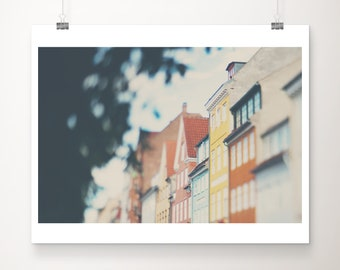 Copenhagen print, Denmark photograph, travel photography, Scandinavian print, Danish decor, large wall art