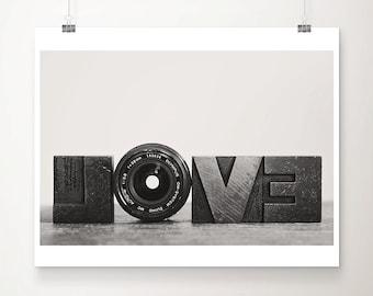 camera photograph black and white photograph romantic print camera lens photo love photograph love print hipster style