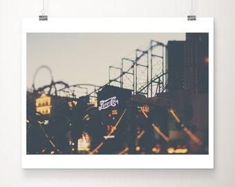 Las Vegas photograph, Las Vegas hotel print, travel photography, retro sign print, roller coaster print, Americana decor