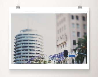 Capitol Records print, Los Angeles print, Los Angeles decor, California photograph, LA architecture print, Hollywood boulevard, pastel decor