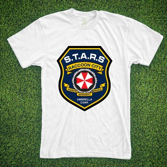 Racoon Horreur T-shirt virus police Stars City Evil Outbreak Umbrella Corp D103