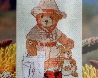 Cross Stitch Kit | Cherished Teddies | Around The World | BAZZA | AUSTRALIA | Priscilla Hillman | Janlynn | Cross Stitch Pattern