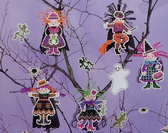 Cross Stitch Pattern   WITCHES & WIDGETS   Astor Place   Perforated Paper Halloween Ornaments   Counted Cross Stitch   Leaflet