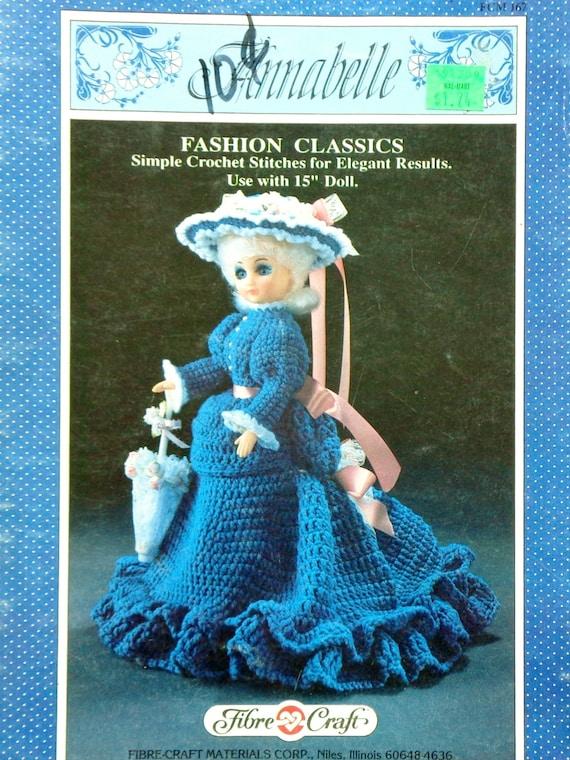 Crochet Pattern Fibre Fiber Craft Annabelle 15 Doll Etsy