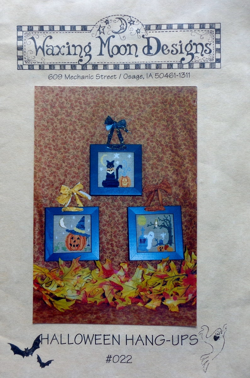Halloween Waxing Moon Designs Counted Cross Stitch Patterns CHOOSE Christmas