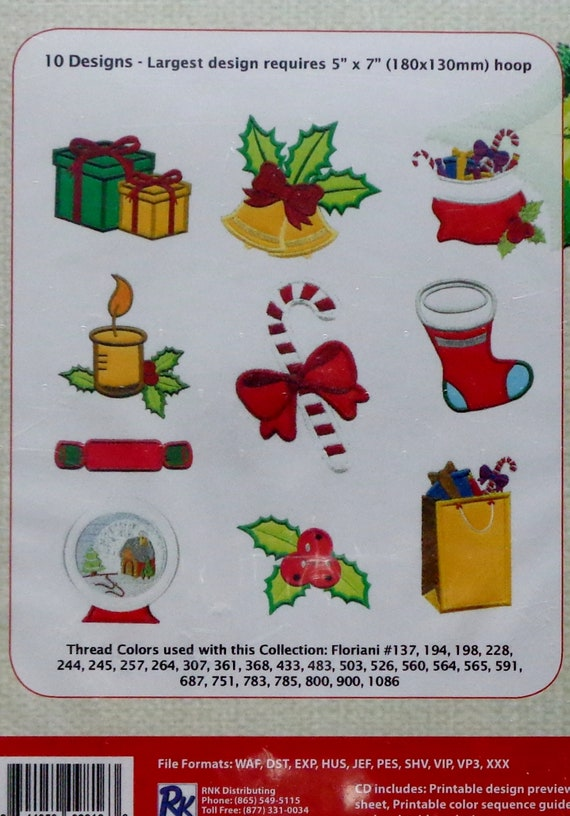 Floriani Ebroidery Christmas 51 Embroidery Design Etsy
