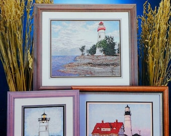 Cross My Heart THE LIGHTHOUSES Designs By Melinda - Counted Cross Stitch Pattern Chart Booklet