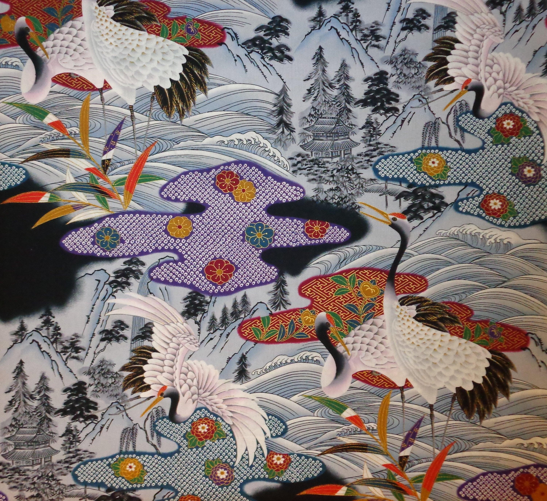 Tissu 100/% coton Hoffman Numériquement Imprimé Noël Holly Metalic
