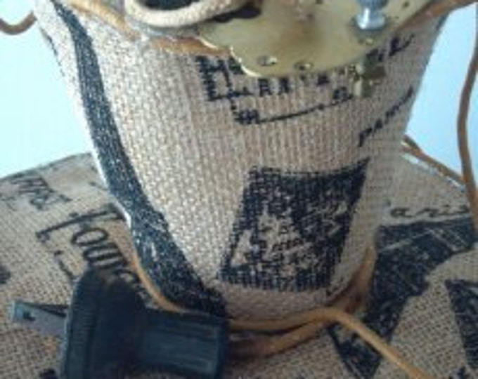 Paris Electric Steampunk Burlap Victorian mini top hat