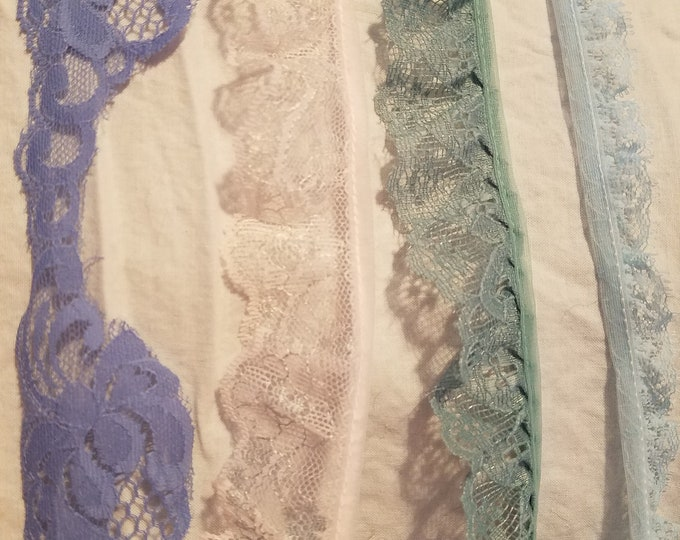 2 yard lengths of american made vintage lace trim