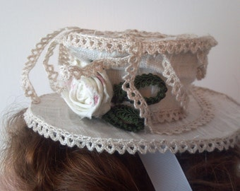 glamping tea garden party victorian boho mini top hat