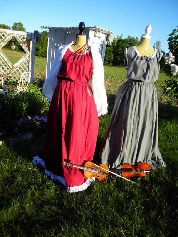 Symphony No. 7 from the Prairie Symphony Collection self bustle steampunk edwardian shabby cottage victorian ruffle or lace edge long skirt