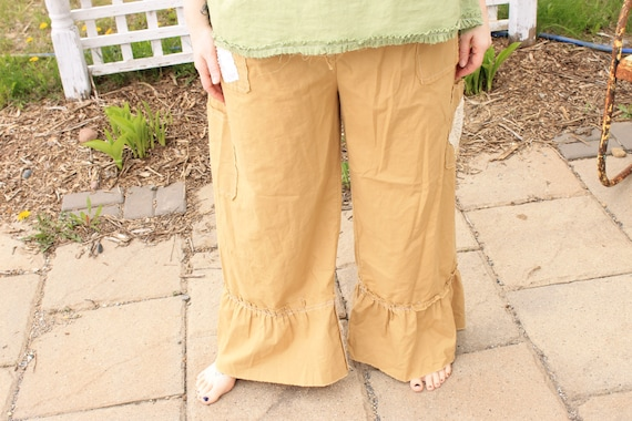 Pocket Bling pantalettes, ladies pants, womans bloomers, ruffled long pants, from the line Sunwashed Prairie