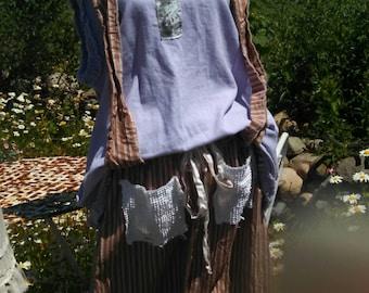 Meadow Maiden Purple Linen Dress