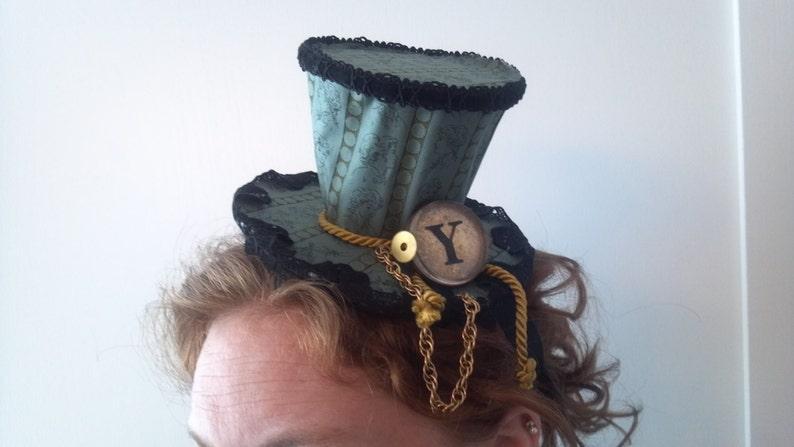 83c8dbb313 Y...steampunk tinker blue and black victorian mini top hat