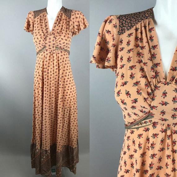 1970s does 1930s prairie boho floral dress boho me