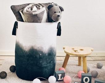 Ombre basket,XXLarge Round Nursery Basket, laundry basket, toy storage, Toy basket, storage bin, laundry hamper, nursery storage