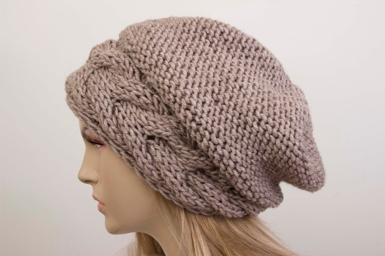 399c828cb2d Big Sale Beanie hat winter slouchy oversized knit hat for