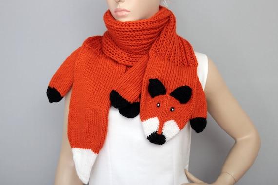 Fuchs Tier Schal stricken | Etsy