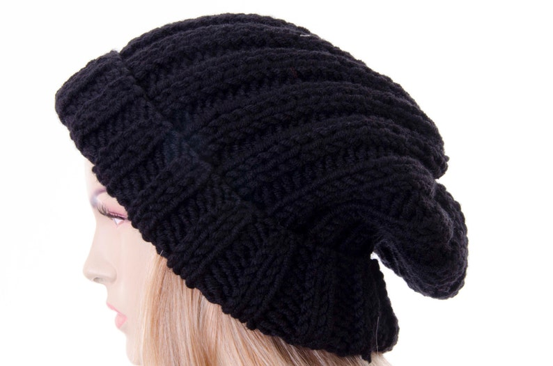 Slouchy beanie oversized beanie hat winter knit hat for woman  853494e4cc1e