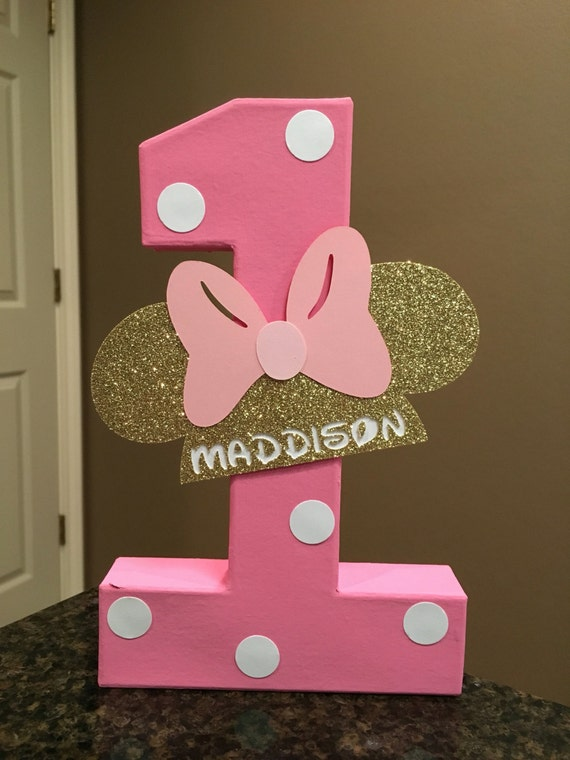 Minnie Mouse Custom Name Letters price is per number Etsy