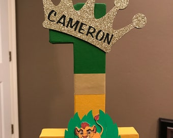 Lion Guard Custom Name Numbers - price is per number