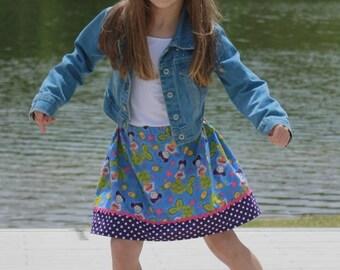 Extraordinary World  Mermaid  Skirt ( 18 mos, 24 mos, 2T, 3T, 4T, 5, 6, 7, 8, 10)