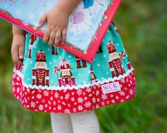 Nutcracker Christmas  skirt (18 mos, 24 mos, 2T, 3T, 4T, 5t, 6, 7)