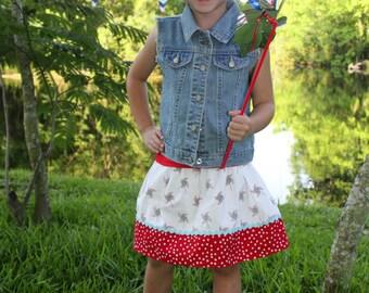 Michael Miller  Pinwheels Skirt (18 mos, 2T, 3T, 4T, 5, 6, 7)