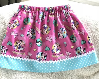 Friendship never goes out of style Minnie  Skirt  (18 mos,24 mos,  2T, 3T, 4T, 5, 6, 7, 8, 10 )