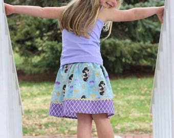 Disney inspired Jasmine Skirt (18 mos, 24 mos,  2T, 3T, 4T, 5 ,6, 7, 8, 10)
