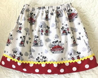 Vintage Mickey and Minnie skirt  (12 mos, 18 mos, 24 mos, 2T, 3T, 4T, 5T, 6, 7, 8)