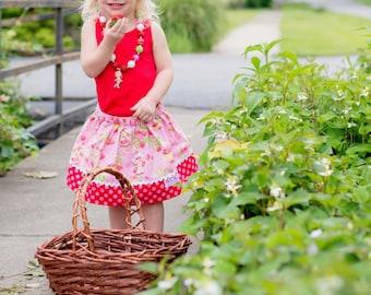 Strawberry Shortcake   Skirt ( 18 mos, 24 mos, 2T, 3T, 4T, 5)