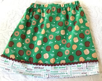 Yummy Girl Scout Cookies  Skirt ( 2T, 3t, 4T, 5, 6, 7, 8, 1012, 14)