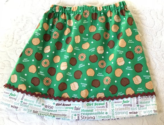 Yummy Girl Scout Cookies Skirt 2t 3t 4t 5 6 7 8 Etsy