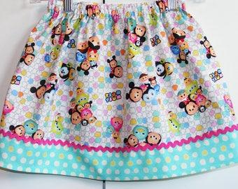 Tsum Tsum  skirt  (18 mos, 2T, 3T, 4T, 5, 6, 7, 8, 10)