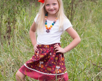 Fox in the Orchard   Skirt   (18 mos, 24 mos,   2T, 3T, 4T, 5, 6, 7, 8, 10)