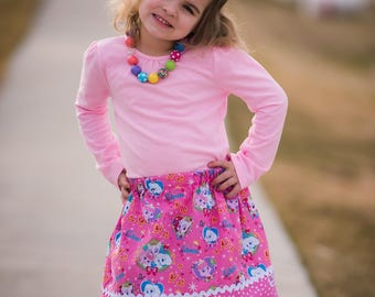 Disney inspired Royal Cuteness Skirt (18 mos, 24 mos,  2T, 3T, 4T, 5 ,6, 7)