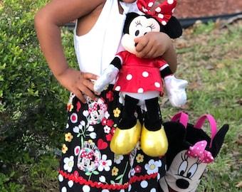 Minnie Flower Toss  Skirt  (24 mos,  2T,  3T, 4T, 5, 6, 7)