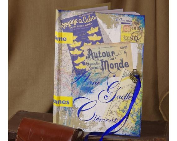 Cadeau Mariage Livre d'or mariage voyages personnalisé Livre d'or idées,  aventures  carnet de route livre d'or