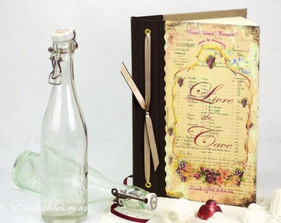 Livre de cave personnalisé  ou pas idéal pour organiser sa cave Cadeau original