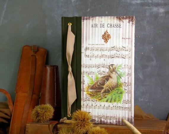 carnet de chasse souvenirs chasse La Bécasse la mordorée tableau de chasse cadeau chasseurs chasseresses Cadeau noël