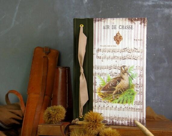 carnet de chasse souvenirs chasse La Bécasse la mordorée tableau de chasse cadeau chasseurs chasseresses