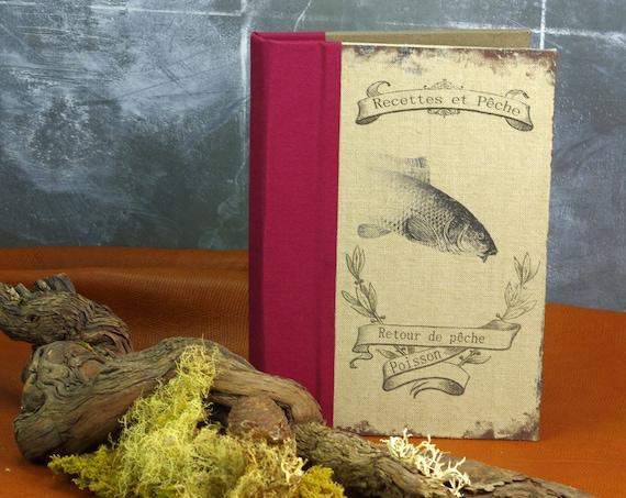 Carnet ou livre de recettes pour pêcheurs aimant cuisinier la pêche du jour