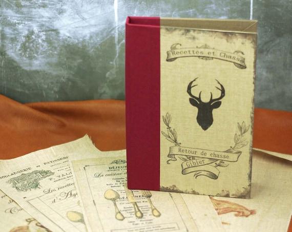 Chasse Carnet ou livre de recettes pour chasseurs gourmandises, salé sucré carnet chef, organiseur de recettes cuisine