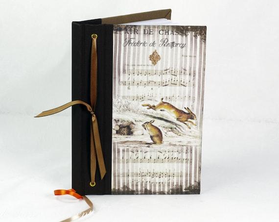 Carnet de chasse souvenirs chasse lapin lièvre tableau de chasse cadeau chasseurs chasseresses cadeau Noël