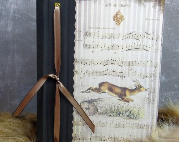 Cadeau chasseurs chasseresses Carnet de chasse chevreuil gros gibiers cadeau Noël anniversaire