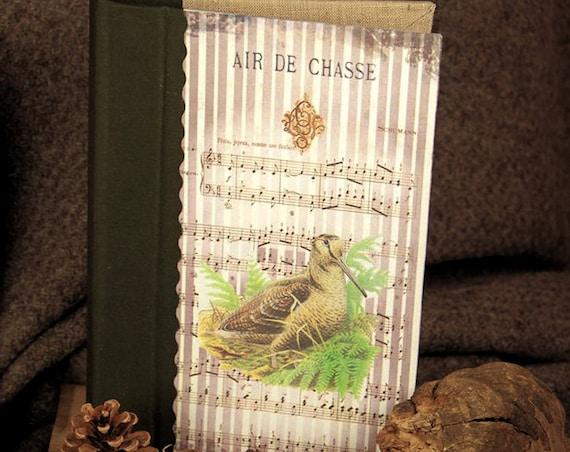 Chasse carnet de chasse souvenirs chasse La Bécasse tableau de chasse personnalisé Cadeau chasseur chasseresse