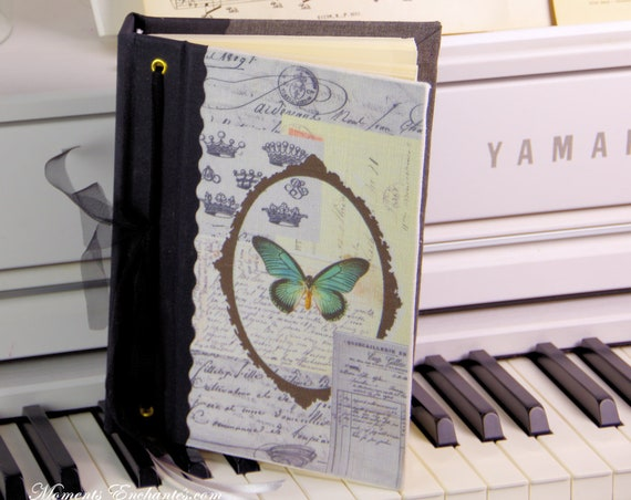 Grand répertoire téléphonique Le papillon  style vintage shabby chic